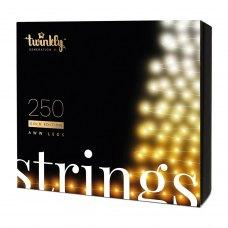 Smart LED Гірлянда Twinkly Strings AWW 250, BT+WiFi, Gen II, IP44, кабель чорний
