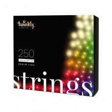 Smart LED Гірлянда Twinkly Strings RGBW 250, BT+WiFi, Gen II, IP44, кабель чорний