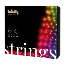 Smart LED Гірлянда Twinkly Strings RGB 600, BT+WiFi, Gen II, IP44 кабель чорний