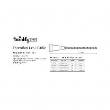 Подовжувач кабелю Twinkly Pro AWG22 PVC кабель, 5м,зелений