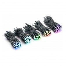 Smart LED Гірлянда Twinkly Pro Curtain RGB 250, AWG22, IP65, чорний