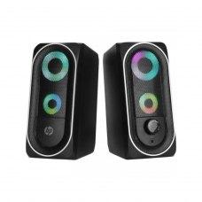 Акустична система 2.0 HP DHE-6001, 3,5мм + USB, 6Вт, LED RGB