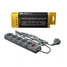 Мережевий фільтр LogicPower LP-X5 PREMIUM, 5 m Grey (2200Вт) (LP9588)