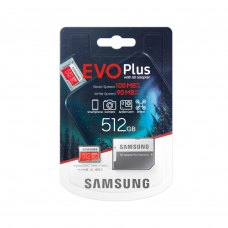 microSDXC карта 512GB Samsung EVO Plus class10 UHS-1 з SD адаптером (MB-MC512HA/RU)