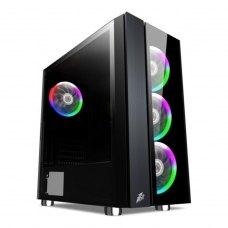 Корпус 1stPlayer B7-E-R1 Color LED Black без БЖ