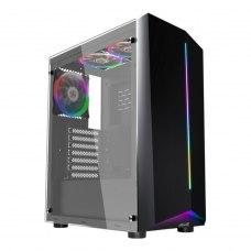 Корпус 1stPlayer R6-A-3R1 Color LED Black без БЖ