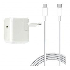 Блок живлення для ноутбуків PowerPlant Apple 220V, 20V 87W 3A (USB-C) (AP87USBC)