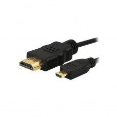 Кабель PowerPlant HDMI - micro HDMI, 0.5m, позолочені коннектори, 1.3V (KD00AS1241)