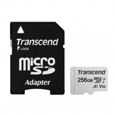microSDXC карта 256GB Transcend 300S class10 UHS-1 U3 V30 A1 з SD адаптером (TS256GUSD300S-A)