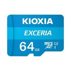 microSDXC карта 64GB Kioxia Exceria class10 UHS-1 з SD адаптером (LMEX1L064GG2)