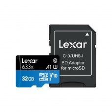 microSDHC карта 32GB Lexar High-Performance 633x class10 UHS-1 з SD адаптером (LSDMI32GBB633A)