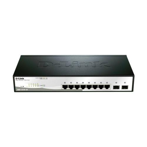 Комутатор мережевий D-Link DGS-1210-10P 16x10/100/1000TX, L2 Management, Металевий, 2combo(1000BaseT