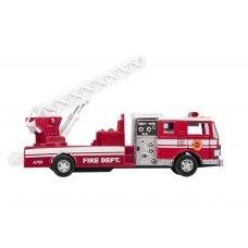goki Машинка металева Пожежна машина з драбиною (червона)