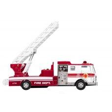 goki Машинка металева Пожежна машина драбиною (біла)