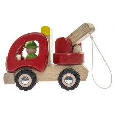 goki Машинка деревяна Евакуатор (червоний)