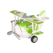 Same Toy Літак металевий інерційний Aircraft зі світлом і звуком (зелений)
