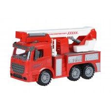 Same Toy Машинка інерційна Truck Пожежна машина з підйомним краном
