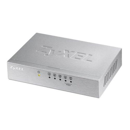 Комутатор мережевий ZyXel ES-105A 5x10/100TX, L2 unmanged, Металевий