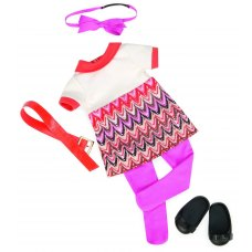 Our Generation Набір одягу для ляльок - Сукня з принтом