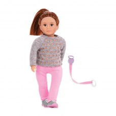 LORI Лялька (15 см) Розалінда з повідком для вигулу собак