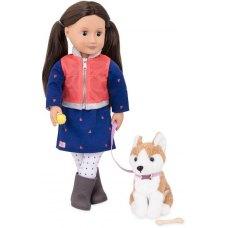 Our Generation Лялька Леслі з собакою (46 см)