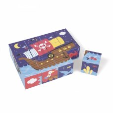 Janod Кубики картонні - Пірати