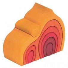 nic Конструктор деревяний - Будинок Габлі великий (жовтий)