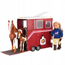 Our Generation Набір аксесуарів для ляльки - Трейлер для коня