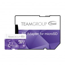 microSDHC карта 64Gb Team Color class10 UHS-I + SD-adapter Purple (TCUSDX64GUHS41)