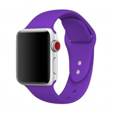 Ремінець Silicone Watch Band for for Apple Watch 38/40 mm Deep Purple