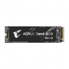 Накопичувач, SSD NVMe M.2 2280, Gigabyte Aorus Gen4, 500GB, PCIe 4.0, 3D TLC (GP-AG4500G)