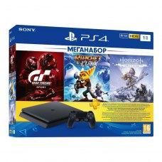Ігрова приставка Sony PlayStation 4 Slim 1Tb (Gran Turismo + Ratchet&Clank + Horizon Zero Dawn + PSPlus 3М)