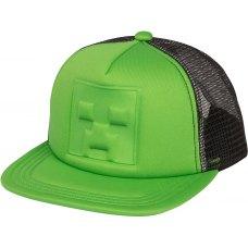 Кепка MINECRAFT Whos Deboss Creeper Youth Snap Back (Майнкрафт) Зелений