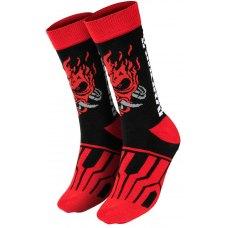 Шкарпетки CYBERPUNK 2077 Samurai On the Run (Кіберпанк 2077) Чорний/Червоний
