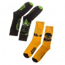 Шкарпетки набір STAR WARS Rogue One (Вигнанець один) 39-46 чорні/жовті