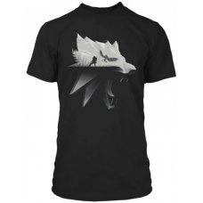 Футболка WITCHER Wolf Silhouette (Відьмак Силует Вовка) S Чорний