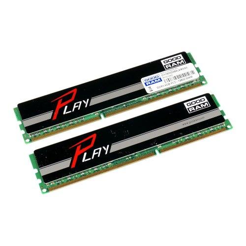 Модуль памяті DDR3 8192Mb GOODRAM (GY1600D364L9/8GDC / GY1600D364L9A/8GDC) 1600MHz, PC3-12800, CL9, (9-9-9-27), 1.5V, (Kit:2x4096Mb), PLAY