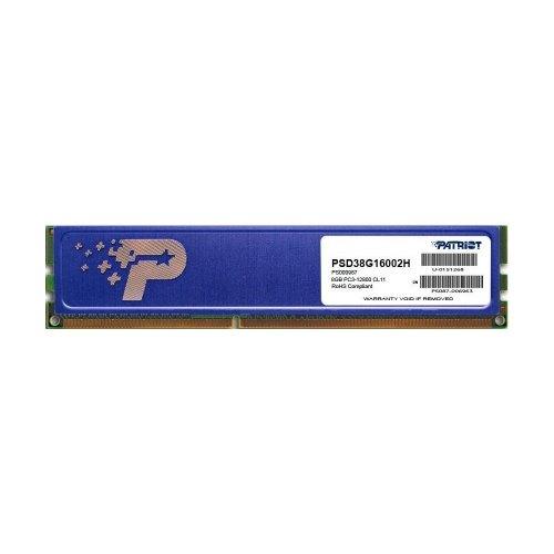 Модуль памяті DDR3 Patriot 8192Mb  (PSD38G16002H) 1600MHz, PC3-12800, CL11, (11-11-11-28), 1.5V, (Kit:1x8192MB), Signature Line