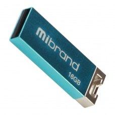 USB флеш 16GB Mibrand Chameleon USB 2.0 Light blue (MI2.0/CH16U6LU) моноблок ,метал, вушко для кріплення