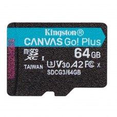 microSDXC 64GB Kingston  Canvas Go! Plus Class 10 UHS-I U3 V30 A2 (SDCG3/64GBSP)