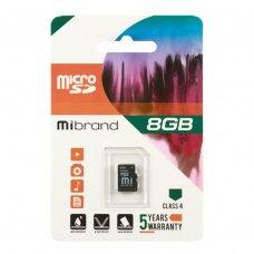 microSDHC карта 8GB Mibrand class4 (MICDC4/8GB)