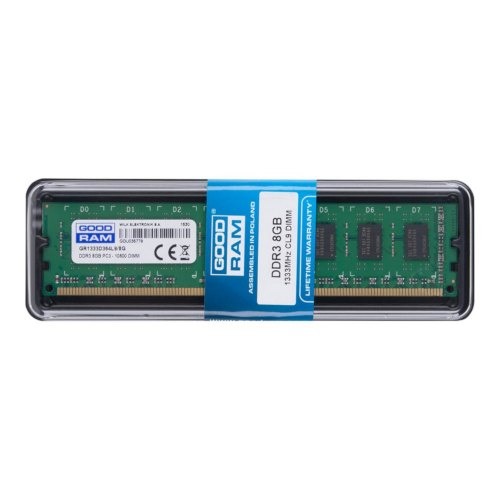Модуль памяті DDR3, 8GB, 1333MHz, GoodRam (GR1333D364L9/8G)