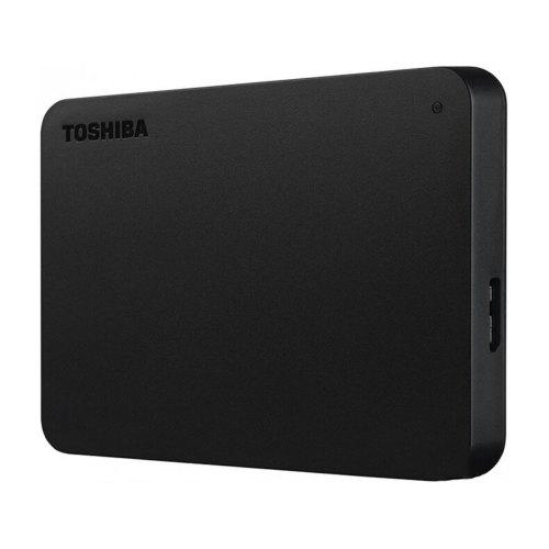 Зовнішній жорсткий диск 2TB Toshiba Canvio Basics + USB-C адаптер (HDTB420EK3ABH)