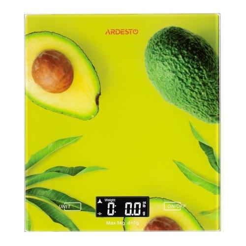 Ваги кухонні, Ardesto SCK-893AVOCADO, 5кг, разноцвет