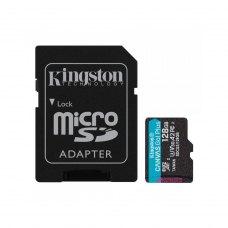 microSDXC карта 128GB Kingston Canvas Go! Plus class10 UHS-1 U3 A2, з SD адаптером (SDCG3/128GB)