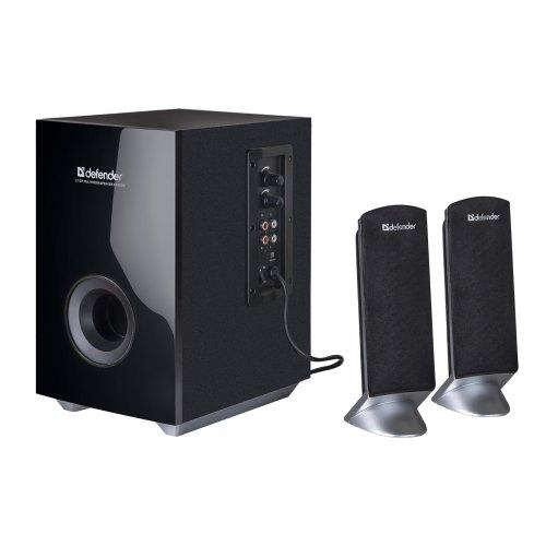 Акустична система 2.1, Defender I-Wave S20 (65120), 12Вт+2x5Вт, регулир. громкости, тембр, деревянны