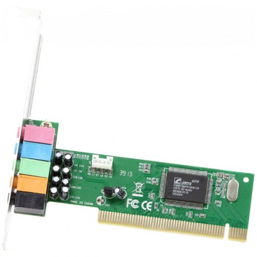 Звукова плата 5.1, Manli C-MEDIA 6CH (M-CMI8738-6CH), PCI, 6 каналів (5.1), Bulk