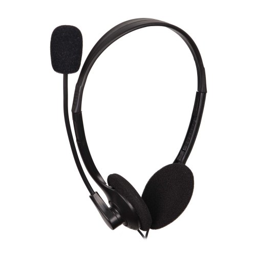 Гарнітура дротова, повнорозмірна, відкрита, ACME CD-602 Black (4770070854990), наголов'я, стерео, шнур 1.75м, 2x3,5мм mini jack, опір 32Ом, чутливість