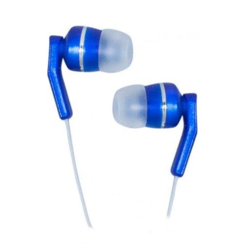 Гарнітура дротова, вакуумна, Defender MPH-805 Blue (63807), стерео, шнур 1.2м, 3,5мм mini jack, опір 32Ом, чутливість 103дБ, синій