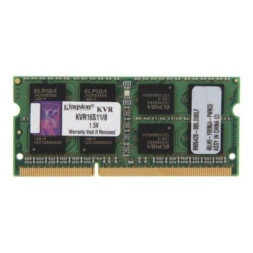 Модуль памяті SoDIMM DDR3 8Gb 1600 MHz Kingston (KVR16S11/8)